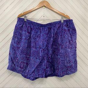 90s Funky Purple Swim Shorts